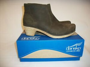 Dansko Boots Heels Leather BROWN Ankle Boots Women's (40) 9.5-10 NICE