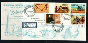 1968 Rhodesia QEII Medical Congress illustrated cover with special cds to S Afr.
