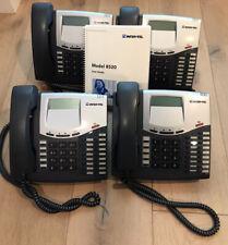 LOT OF 4 Inter-Tel 550.8520 Mitel LCD  Display Business Telephone 8520 w/ Manual