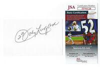 BRAVES Johnny Logan signed 3x5 index card JSA COA AUTO Autographed Milwaukee