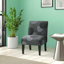 NEW Modern Accent Chair Cushion Backrest Living Room Bedroom, Charcoal Sunflower
