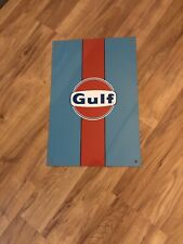 Oil/Gas Gulf Racing Advertising Sign Nice L@K