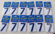 """House, Letterbox Numbers """"7"""" in White- bulk = doz (12)- Self Adhesive free post"""