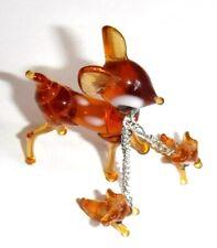 Collectible Glass Pig Blue Miniature Figurine 1 Inch Mini Animals