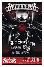 "HELLYEAH ""UNDENIABLE WORLD TOUR"" 2017 WEST VIRGINIA CONCERT POSTER - Metal Music"