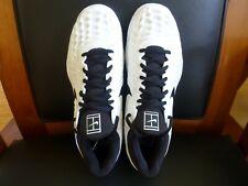 Men's Nike Air Zoom Cage 3 HC Tennis Shoes 918193 101 White/Black Size 10