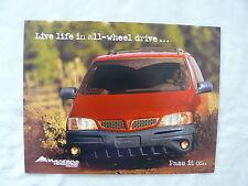 Pontiac Montana - Versatrak all-wheel drive - US-Prospekt Brochure 2002