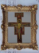 Gemälde Orthodoxe Christentum Jesus Christus am Kreuz Bild mit Rahmen 56x46 cm