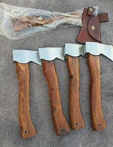 "(PACK OF 5)CUSTOM HANDMADE 1095 HIGH CARBON STEEL 11"" THROWIN AXES"