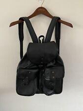 Vintage Genuine Leather Black Backpack Rucksack Large