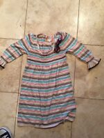 Adorable Striped Babydoll Smocked Sweater Dress