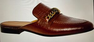 Kurt Geiger Tan  Leather Backless Reptile Effect Loafers  Shoes UK Size 9.5—BNWB