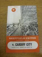 28/08/1961 Sheffield United v Cardiff City  (folded, rusty staples). Thanks for