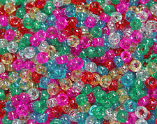 Sparkle Multi Colors Mini Pony Beads 6.5x4mm 1000pc made in USA