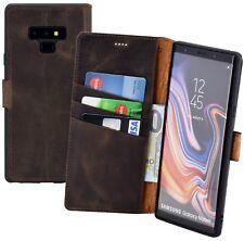 Samsung Galaxy Note 9 Hülle Book Style Tasche Wallet Case Cover in Antik Braun