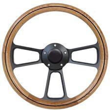 1969 Ford F Series F100 F250 Pick Up Truck Oak & Billet Steering Wheel GM Column
