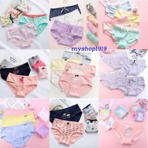 7 pack Girls COTTON knickers briefs pants Lace Underwear panties Age 10-12 Years