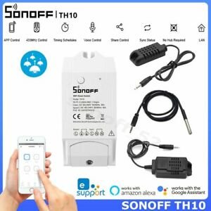 Sonoff TH10 Smart WiFi Switch Temperature Humidity Sensor Monitoring APP Control