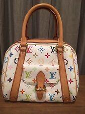 Auth. Louis Vuitton Priscilla white monogram multicolore bag