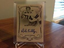 2014 Panini National Treasures Bob Lilly Numbered 1/4 Black Autograph