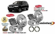 FOR VW TOUAREG 2.5 2003-2011 FRONT REAR BRAKE DISC SET & PADS & HANDBRAKE SHOES