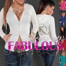 Women's Cardigan Jumper Jacket Soft Trendy Hooded Casual Outerwear Size 10 8 6