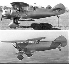 Giant 1/4 Scale WACO D Series WHD Biplane Plans, Templates 100ws