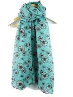 Bumble Bees And Flower Ladies Scarf Shawl New  Print Trendy Lovely Gift