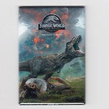 "JURASSIC WORLD 2 : FALLEN KINGDOM / T REX - 2""x3"" MOVIE POSTER MAGNET (dinosaurs"