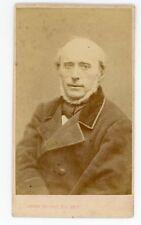 Photo CDV carte de visiteTHOURET Paris homme collier de barbe blanche pose 1860
