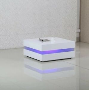 New Modern Coffee Table With LED Light High Gloss