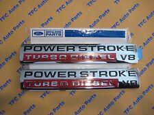 Ford Super Duty Power Stroke Turbo Diesel V8 Emblem 2005-2007 New OEM Set of 2