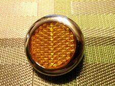 Lucas type RER25 Amber Chrome Reflector, New, 57161, Pair