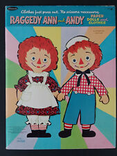 Vintage Raggedy Ann And Andy Paper Dolls Clothes, Whitman 1966