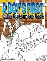 A Boy's First Color by Number Book by Lilt Kids Coloring Books NEW Paperback