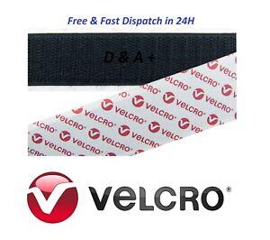 Genuine VELCRO® Brand 20mm Width Self Adhesive Sticky Up To 1m Hook & Loop Tape