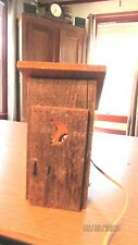CUTE RUSTIC RECLAIMED WOOD FREESTANDING OUTHOUSE NIGHTLIGHT HALF MOON