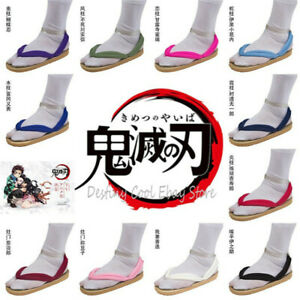 Demon Slayer Kimetsu no Yaiba Cosplay Shoes Kamado Tanjirou Geta Clogs Slippers