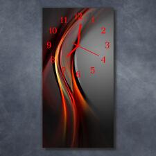 Glasuhr Wanduhr Küchenuhr Echt-Glas 30x60 Deko Muster Mehrfarbig