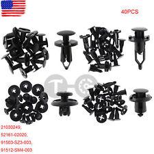 40pcs Car Push Retainer Pin Body Bumper Rivet Trim Moulding Clip Accessories Kit Fits 2009 Hyundai Santa Fe