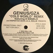 "Genius/GZA ""Cold World"" Remix 1996 Geffen Records PROMO Hip Hop Single VG++"