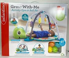 Infantino Grow-With-Me Activity Gym and Ball Pit Turtle & Sea Friends 0+  ~ NEW