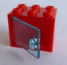 1 x LEGO® 4533/4532 Schrank,Kasten mit Tür/Klappe hellblau transparent/rot 2x3x2