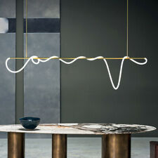Modern Gold Line Wrapped LED Chandelier Restaurant Bar Decor Pendant Light Lamp