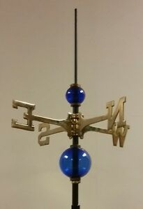 Full weathervane set-up/ 2.5'' & 4.5'' GLASS balls/ROD&DIRECTIONALS----NO MOUNT