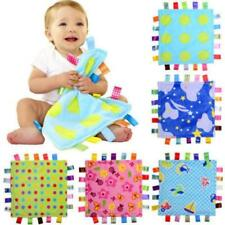 1PC Baby Blanket Bundle Fleece Plush Teething Security Tag Blanket Swaddle LC