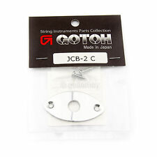 NEW Gotoh JCB-2 Oval Curved Footbal Style Jack Plate for Guitar - CHROME