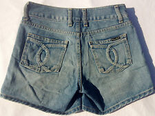 EUC - RRP $99 - Womens Stunning BARDOT DENIM Indigo Cotton Shorts Size 8