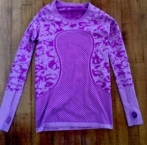 Lululemon Run Swiftly Tech Long Sleeve Crew Heathered Violet Size 10