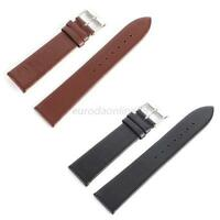 Hot Durable Genuine Leather Watch Bracelet Men Lady Solid Strap Band Replacement